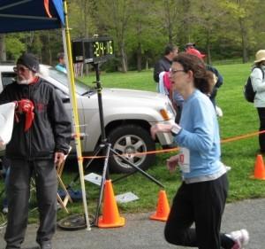 Rhonda Hogan - Acupuncturist running